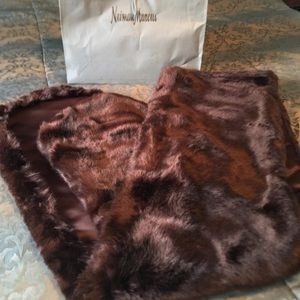 'Silk and Sable' Faux Fur Shall